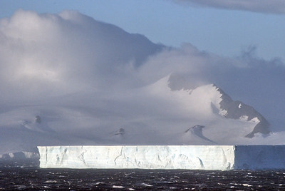 Tablet ice berg in the Anarctica Sound