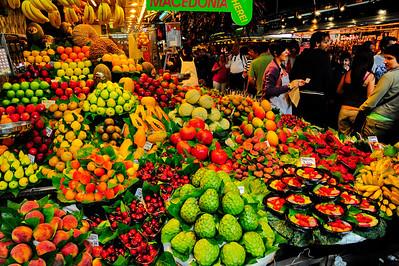 La Boqueria, famous market on the La Ramba