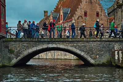 Brugge, Belgium tourists photographing tourists