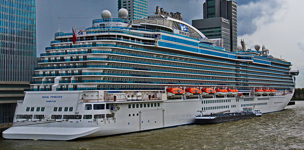The Regal Princess docked in Rotterdam, The Netherlands