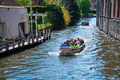 Brugge, Belgium tourists boat