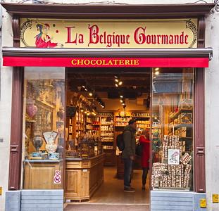 Brugge, Belgium chocolate shop