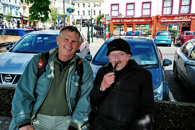 Sean, a life long resident of Cobh, was sitting in this little park.  We struck up a conversation and he agreed to take a picture with me.