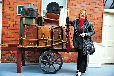 MA outside the Titanic Museum