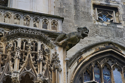 the Canterbury Cathedral  gargoyle