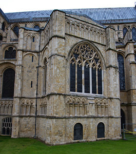 the Canterbury Cathedral, added extension