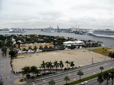 Port Everglades, Ft. Lauderdale, Florida One of the largest cruise ship terminals in the world