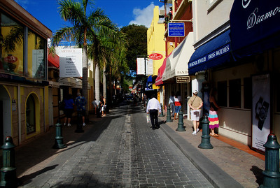Shopping district of St. Martin