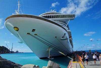 Emerald Princess at dock in Saint Maarten, Dutch West Indies