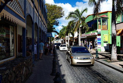 Shopping district in St. Martin