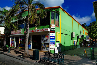 Colorful buildings in St. Martin