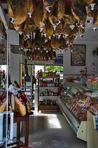 Marbella, Spain on the Costa del Sol Deli with hanging hams