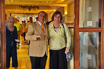 Marbella, Spain on the Costa del Sol MA with the maitre d' who was so kind to a couple of American tourists
