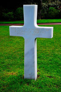 Normandy American Cemetery and Memorial One of the many Unknown markers