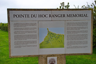 Our cruise stopped at LeHavre, France and MA and I took the ship's tour to Normandy and the D-Day Beaches. Our first stop was Pointe du Hoc where the 2nd Battalion scaled the cliffs to knock out the guns that were believed trained on Omaha Beach.