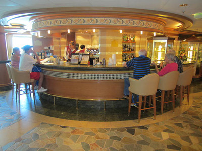 Ruby Princess Cruise:  Ft. Lauderdale to Rome 2013 Coffee Bar...we spent a lot of time there