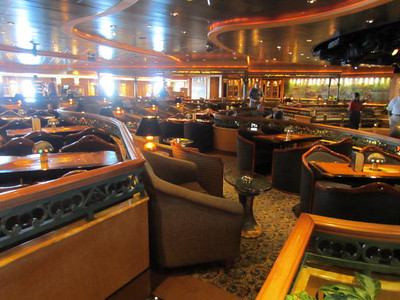 Ruby Princess Cruise:  Ft. Lauderdale to Rome 2013 Wheelhouse Bar, meeting  place for Trivia