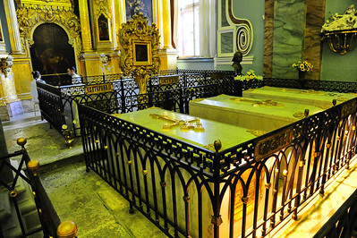 The Russian Czars (Romanovs) are entombed in the Peter and Paul Cathedral