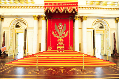 Czar's throne in the Katherine Palace