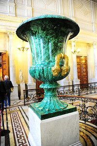 Malachite vase in the Hermitage