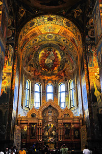 Interior of the Church on the Spilled Blood
