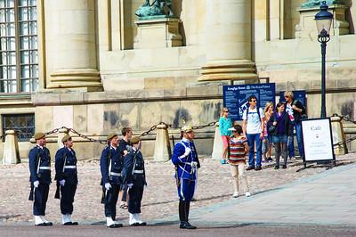 Changing of the guard at the Royal Palace