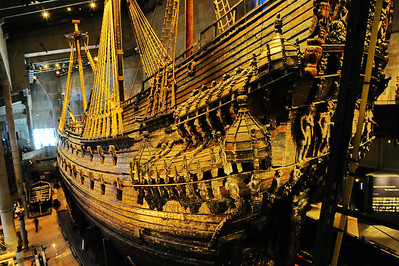 The warship Vasa sunk in the harbor and raised from the depths to become a major tourist attraction 400 years later.  It is housed in its own museum.