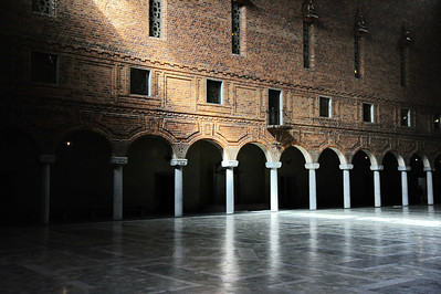 Stockholm City Hall: Blue Banquet Room where the Nobel Prize dinner is held each year.