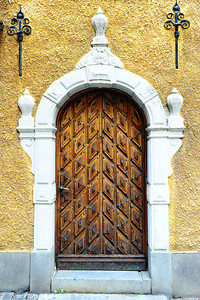 Old door in medieval Stockholm