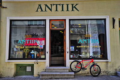 Antique store and bicycle