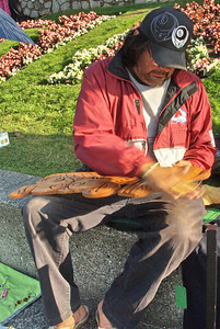 Native Canadian woodcarver