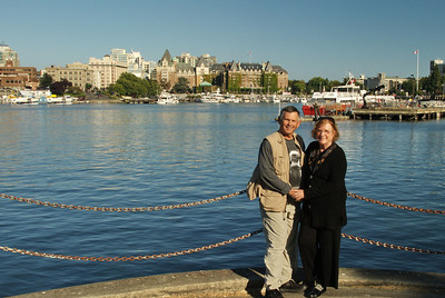 Wayne and MA on a harbor walk