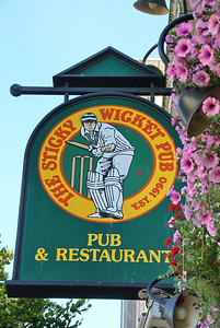 The Sticky Wicket Pub sign