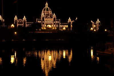 Parliament reflection from the harbor