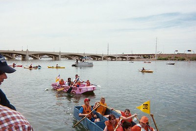 Final race, 2nd place , Boy Scout boat took first.
