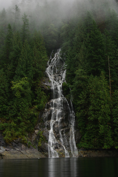 Waterfalls are everywhere in rainy periods.