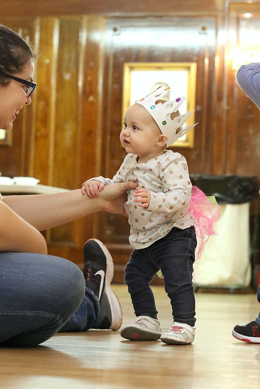 ". Thursday was ""Princess Day\"" at Leominster City Hall. Leia Schoonmaker, 8 months old, enjoys some time with her mom Kim during the event. Her mom said she named her after princess Leia from Star Wars. SENTINEL & ENTERPRISE/JOHN LOVE"