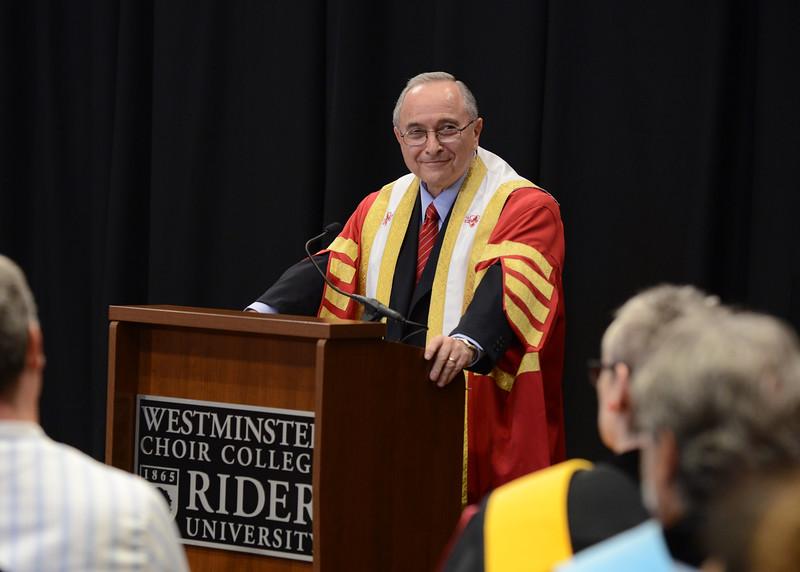 Rider University President Mordechai Rozanski