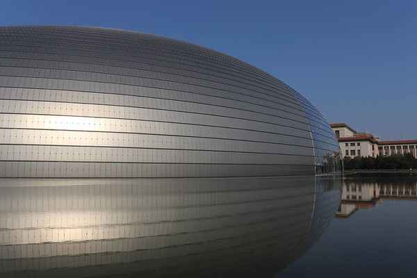 Beijing's National Centre for the Performing Arts, where the Westminster Choir performed.