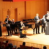 The ensemble accompanying the Westminster Choir in Monteverdi's Hor che'l chiel e la terra at Tsinghua University.