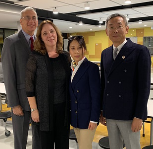 Dean Marshall Onofrio and his wife Susan with Kaiwen Education Chairman Marc Xu and his wife Rickie Dai.