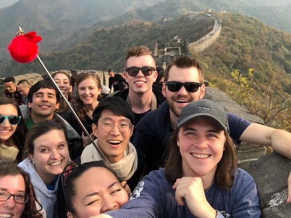 At the Great Wall!