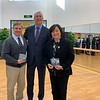 Donald Miller, Academic Principal, and Jane Zhou, Executive Principal, with Westminster Dean Marshall Onofrio at Kaiwen Academy's Haidian campus.