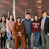 Final photo at Beijing Airport.   Westminster Choir members Haochen Wang and Yiran Zhao with our new friends in China, the Kaiwen Education host team.