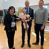 Jane Zhou, Executive Principal of Kaiwen Academy's Haidian campus, with Dean Marshall Onofrio and Professor Joe Miller.