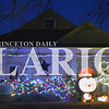 Jake Bethel        /      Daily Clarion     <br /> Inflatable winter characters are front-and-center in this Christmas display on Spruce Street in Princeton.