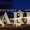 Jake Bethel    /    Daily Clarion<br /> This home of the corner Oak and West streets in Princeton has a back yard fully decked out, complete with a Nativity scene.