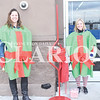Quiche Matchen/ Daily Clarion <br /> Melissa Walden, Salvation Army board member, and volunteer Dori Money ring the bell outside of Wal-Mart to raise funds for the Salvation Army. Walden said the organization hasn't raised half of their goal. They will continue to ring the bell until Dec. 23 and hope to reach their goal by then.