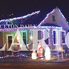 Quiche Matchen/ Daily Clarion <br /> A house on the corner of Main and Ulen streets in Fort Branch displays numerous figurines and Christmas lights.