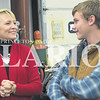Rachel Graber Akpotu/Daily Clarion<br /> Exploring Ivy Tech<br /> Ivy Tech Community College President and former Lt. Governor Sue Ellspermann chats with Ivy Tech welding student Bobby Embree Monday afternoon at the Princeton Career and TEchnology Center. Ellspermann met with welding students and welding Instructor Rick Ray and toured the facility and Mechatronics Lab.